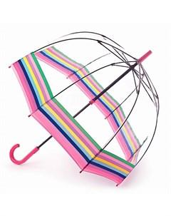 Зонт трость женский Colour Burst Stripe Fulton