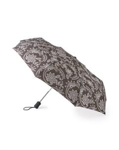 Зонт женский SoftLace купол 97см серый Fulton