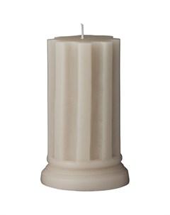 Свеча Colinne 12x7 5см цвет серый Lene bjerre