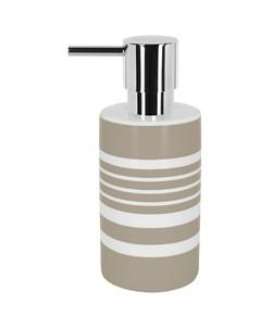 Дозатор для жидкого мыла Tube Stripes коричневый Spirella