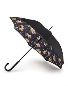 Зонт женский купол 92см черный Fulton
