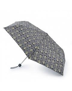 Зонт женский CheetahHead купол 86см серый Fulton