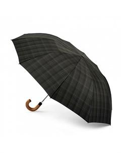Зонт мужской купол 104см серая клетка Fulton