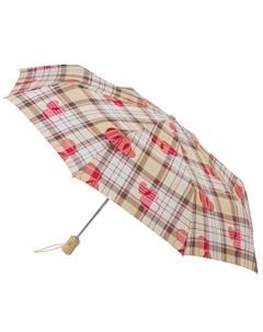 Зонт женский HeartCheck купол 97см бежевый Fulton