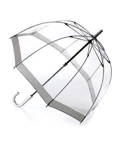Зонт трость женский купол 89см прозрачный Fulton