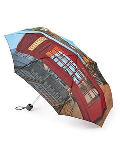 Зонт женский купол 98см красный Fulton