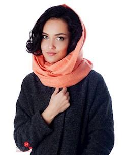 Шарф 140 40 см цвет оранжевый Le motif couture