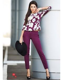 Костюм блуза брюки цвет бордовый Zirka