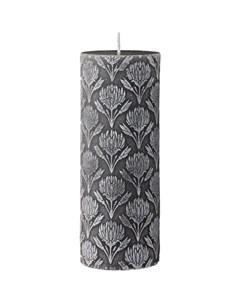 Свеча Gillia пионы 7 5x20см цвет серый Lene bjerre