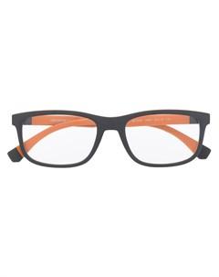 Очки в квадратной оправе с логотипом Emporio armani