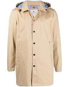 Пальто на кнопках с капюшоном Woolrich