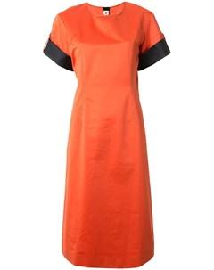 Платье прямого кроя с контрастными вставками Marni