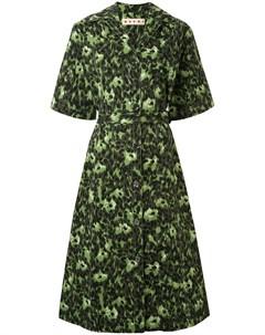 Платье рубашка с абстрактным принтом Marni