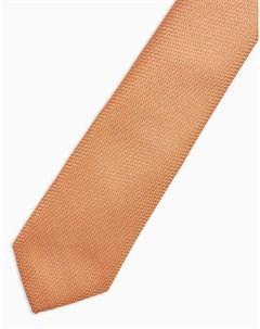 Бежевый галстук Topman