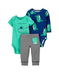 Комплект для мальчика боди полукомбинезон брюки 1J996410 Carter`s