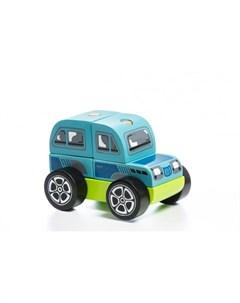 Деревянная игрушка Машинка конструктор Внедорожник LM 9 5 деталей Cubika