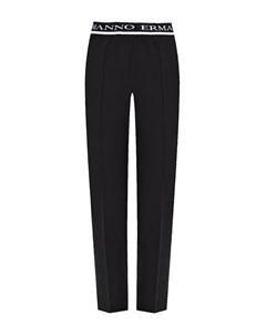 Черные брюки с логотипом на резинке Ermanno ermanno scervino