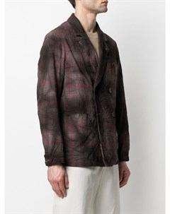 Двубортный пиджак в клетку Barena