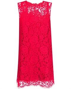 Кружевное платье трапеция без рукавов Dolce&gabbana