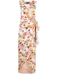 Платье миди с запахом и цветочным принтом Patrizia pepe