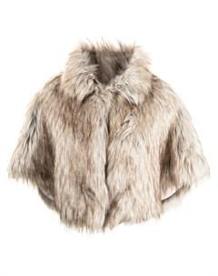Укороченный кейп Nord из искусственного меха Unreal fur