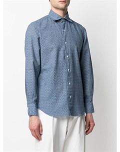 Рубашка с геометричным принтом Finamore 1925 napoli