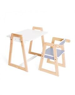 Комплект детской растущей мебели Краски парта и стул Я сам
