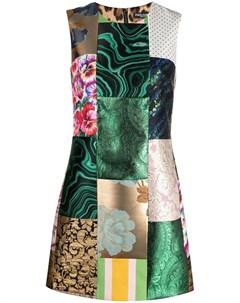 Жаккардовое платье в технике пэчворк Dolce&gabbana