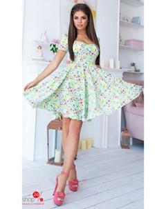 Платье цвет зеленый Lilova