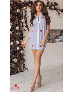 Платье цвет голубой Lilova