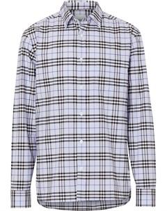 Рубашка в клетку с длинными рукавами Burberry