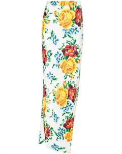 Юбка макси с цветочным принтом и пайетками Ashish