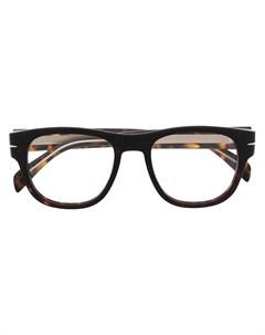 Очки в квадратной оправе черепаховой расцветки Eyewear by david beckham