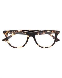 Очки в квадратной оправе черепаховой расцветки Bottega veneta eyewear