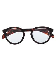 Очки в круглой оправе черепаховой расцветки Eyewear by david beckham