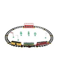Железная дорога Товарный поезд длина пути 227 см Играем вместе
