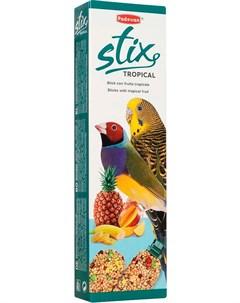 Stix Tropical Cocorite палочки лакомство для волнистых попугаев и экзотических птиц с тропическими ф Padovan