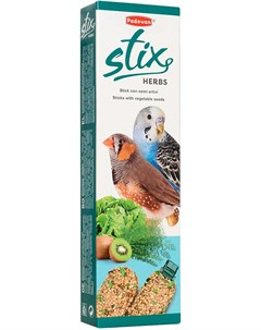 Stix Herbs Cocorite палочки лакомство для волнистых попугаев и экзотических птиц с травами 80 гр Padovan