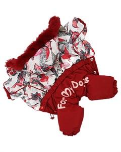 Комбинезон для собак красный для девочек Fw863 2020 F 14 For my dogs