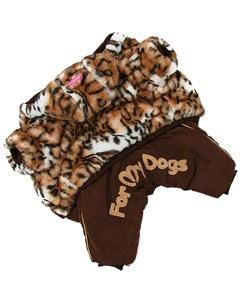 Комбинезон шубка для собак коричневый для девочек Fw927 2020 F 14 For my dogs