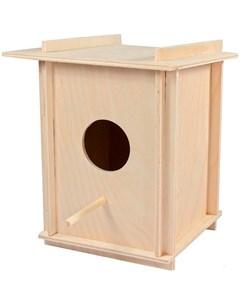 Скворечник в клетку для птиц большой 15 х 15 х 19 5 см 1 шт Дарэлл