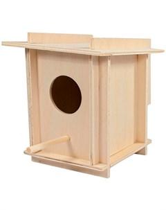 Скворечник в клетку для птиц малый 12 5 х 12 5 х 14 5 см 1 шт Дарэлл