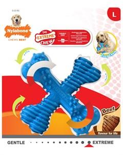 Игрушка для собак Dura Chew X Bone Beef Х косточка экстра жесткая с ароматом говядины L 1 шт Nylabone