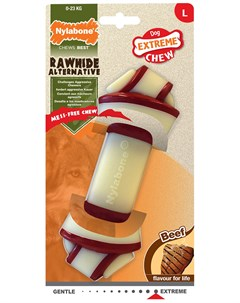 Игрушка для собак Rawhide Knot Bone Beef узел экстра жесткий с ароматом говядины L 1 шт Nylabone