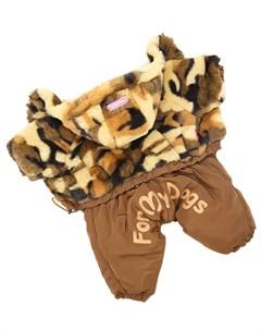 Комбинезон шубка для собак коричневый для мальчиков Fw712 2019 M 18 For my dogs