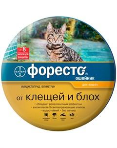 Форесто ошейник для кошек против клещей блох и вшей 38 см Bayer 1 шт Foresto