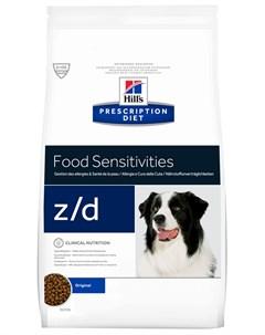 Hill s Prescription Diet Z d для взрослых собак при острых пищевых аллергиях 8 кг Hill`s