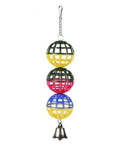 Игрушка для птиц Пластиковые шары с колокольчиком 3 х 5 см 1 шт Trixie