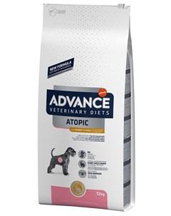Veterinary Diets Atopic для взрослых собак при дерматозах и аллергии с кроликом и горохом 12 кг Advance