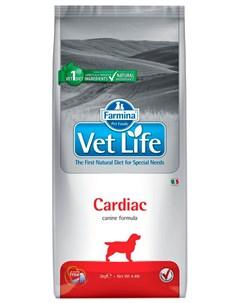 Vet Life Cardiac для взрослых собак при сердечной недостаточности 2 кг Farmina